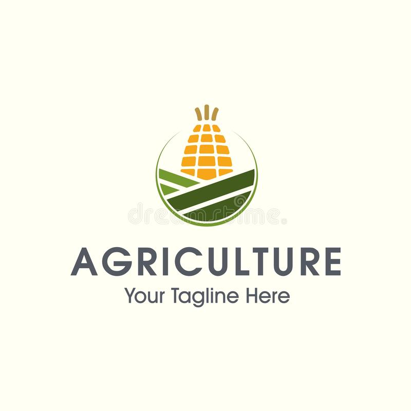Landbouwembleem Vectoraard en de landbouw logotype stock illustratie