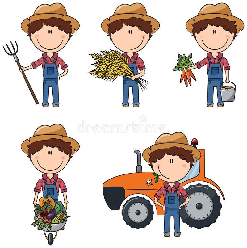 Landbouwer stock illustratie
