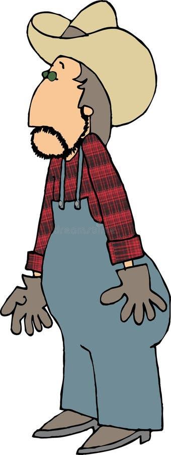 Landbouwer in een plaidoverhemd royalty-vrije illustratie
