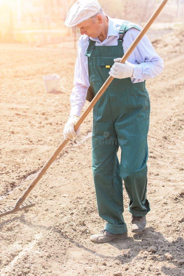 Landbouwer op het gebied royalty-vrije stock fotografie