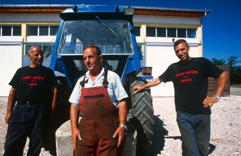 Landbouwers in Kosovo. royalty-vrije stock foto