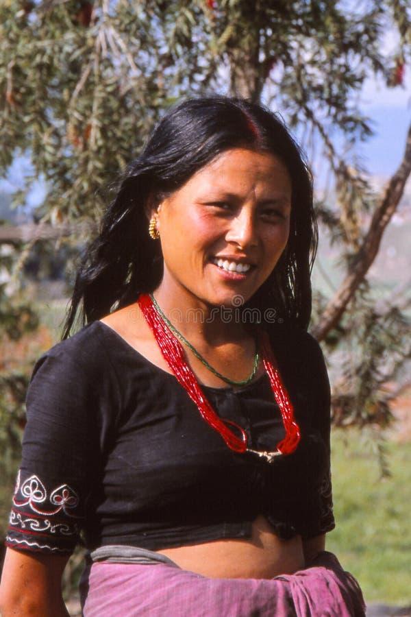 Landbouwersdame van Nepal royalty-vrije stock fotografie