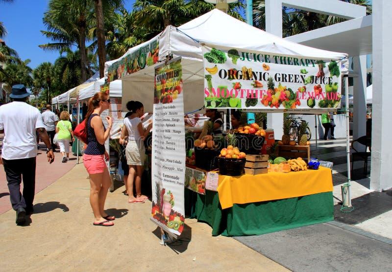 Landbouwersmarkt, Lincoln Road, Miami, 2014 royalty-vrije stock foto