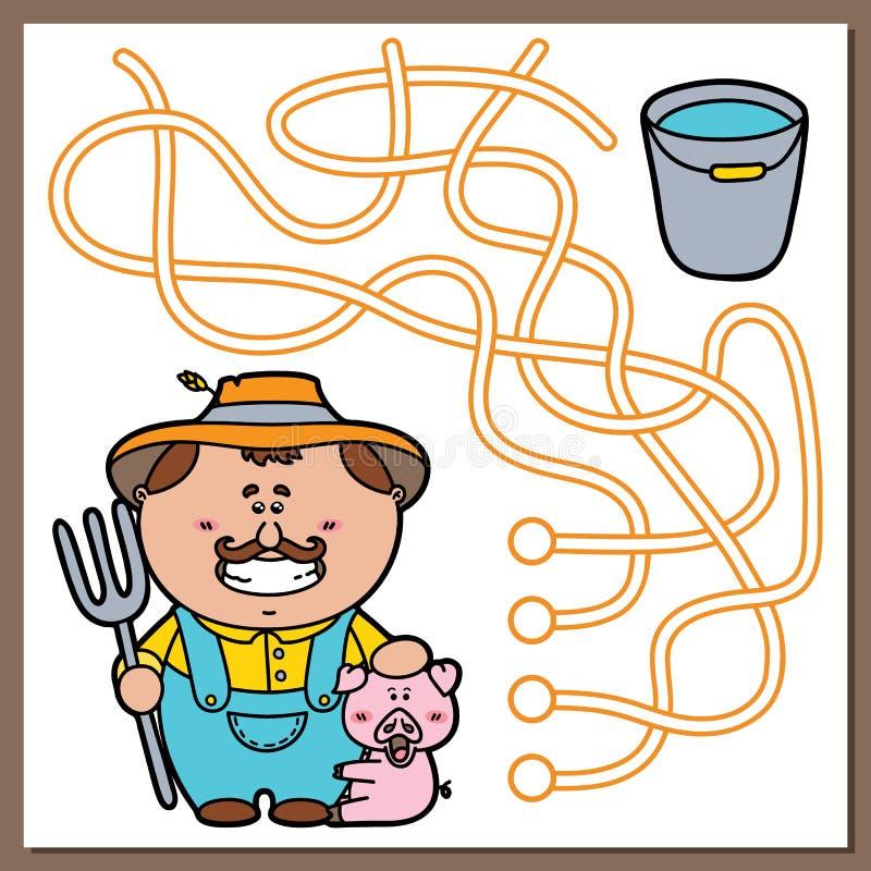 Landbouwersspel stock illustratie
