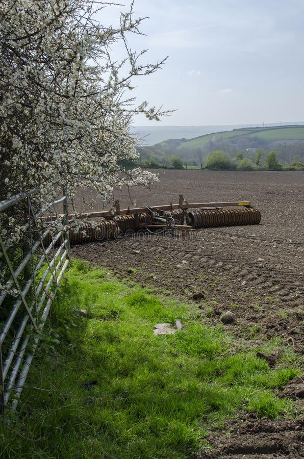 Landbouwgrond na het ploegen royalty-vrije stock afbeelding