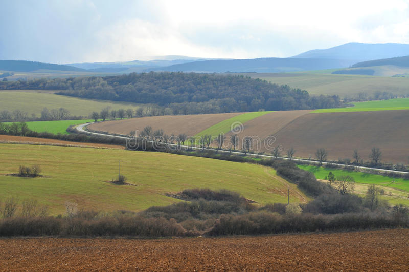 Landbouwgrond in Slowakije royalty-vrije stock foto's