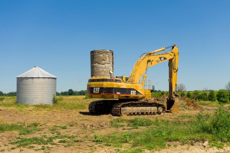 Landbouwmachine in zuidelijk Ontario royalty-vrije stock fotografie