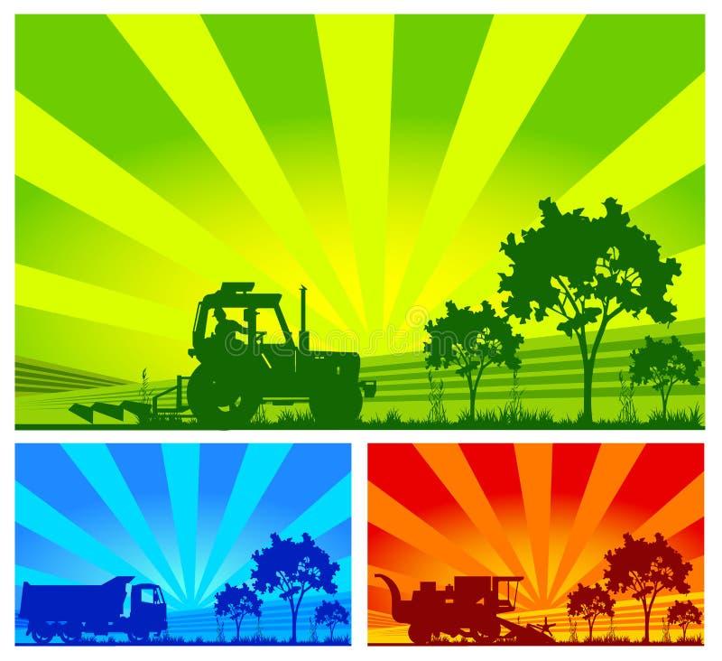 Landbouwmachines, vector royalty-vrije stock afbeeldingen