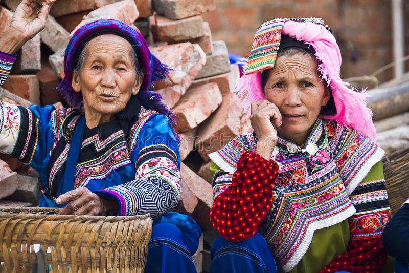 Landbouwproductenmarkt in Yunnan royalty-vrije stock foto