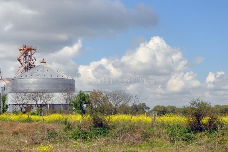 Landbouwsilo's in Argentinië royalty-vrije stock foto's