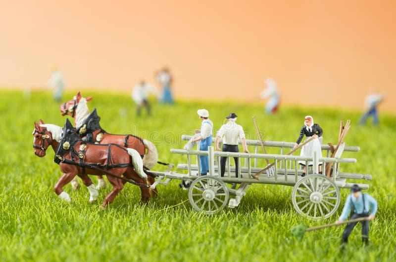 Landbouwstuk speelgoed mensen royalty-vrije stock foto