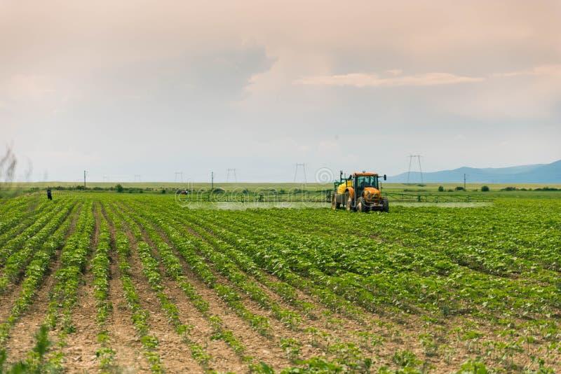 Landbouwtractor stock fotografie