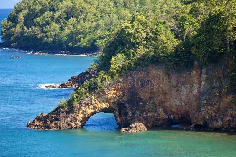 Landbrücke, St Lucia lizenzfreies stockbild