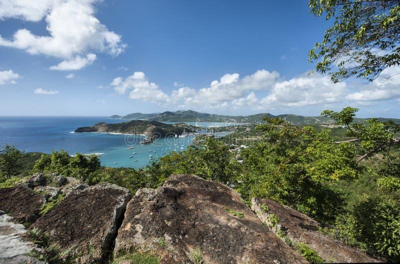 Landcape de la isla de Antigua fotografía de archivo