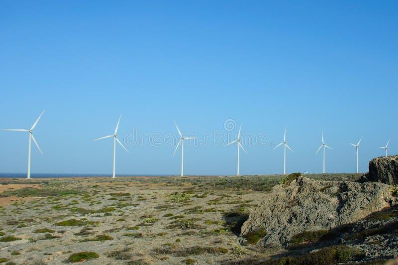Landcape de los molinoes de viento fotografía de archivo libre de regalías