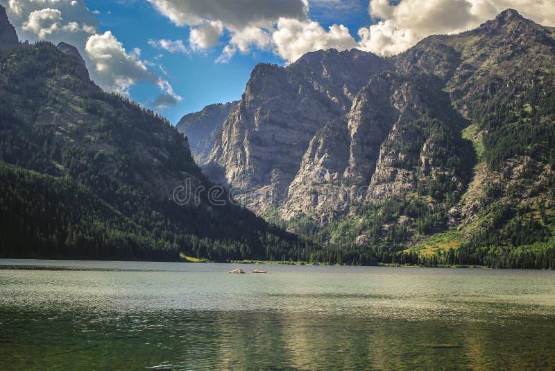 Landcape delle montagne WY del lago e di Teton Phelps immagini stock