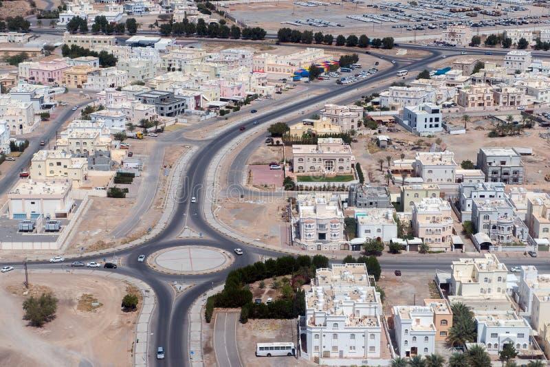 Landcape för flyg- sikt för Muscat arabisk stad fotografering för bildbyråer