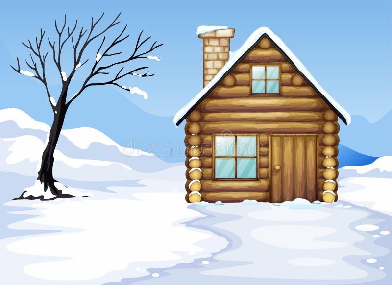 Landcape och hus vektor illustrationer