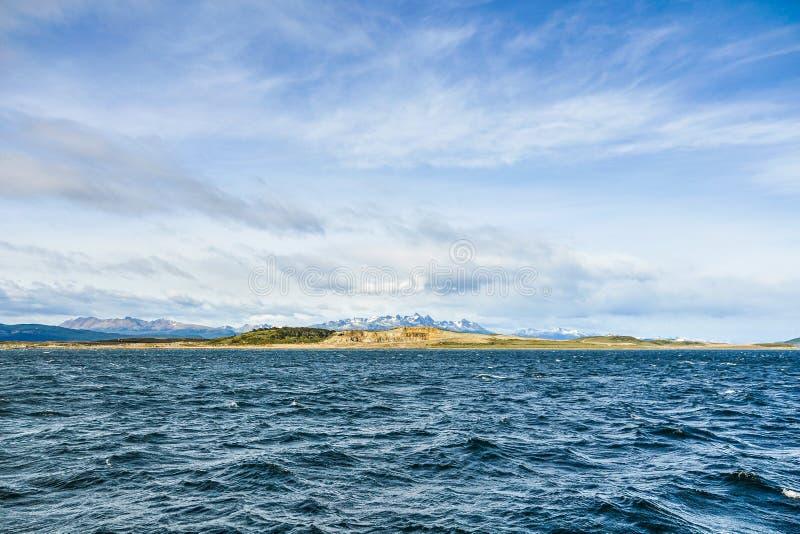 Landcsape de la Manche de briquet, Ushuaia, Argentine image libre de droits