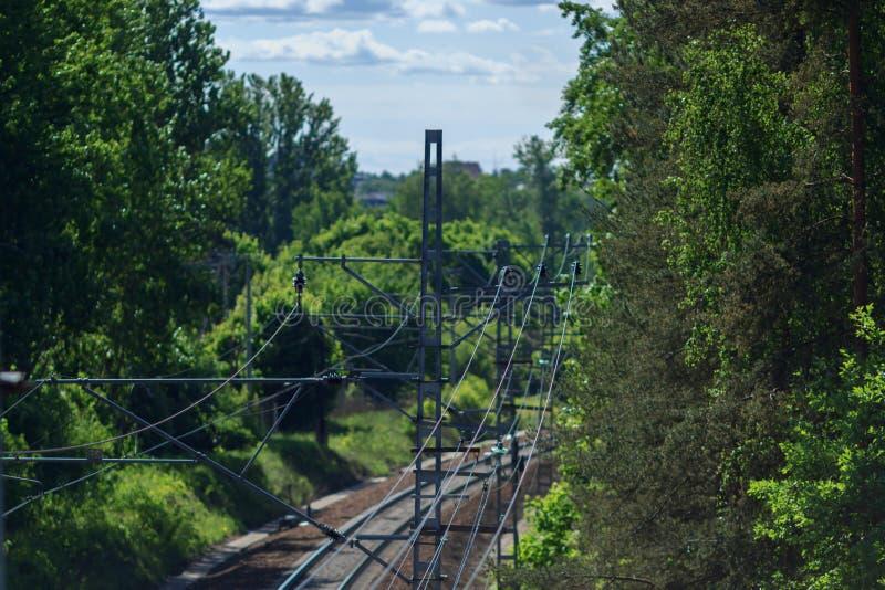 Landeisenbahn lizenzfreies stockfoto