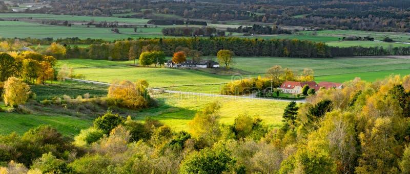 Landelijk Denemarken op een zonnige de herfstdag royalty-vrije stock afbeeldingen