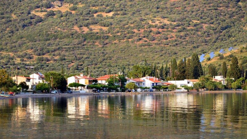 Landelijk Grieks Landschap en Zeegezicht, Griekenland stock foto