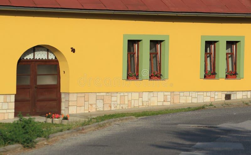 Landelijk huisdetail stock afbeelding