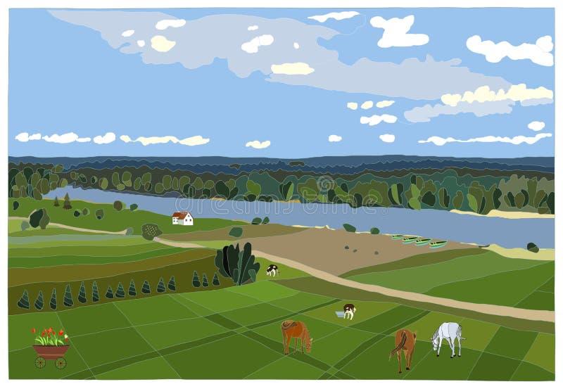 Landelijk Landschap vector illustratie