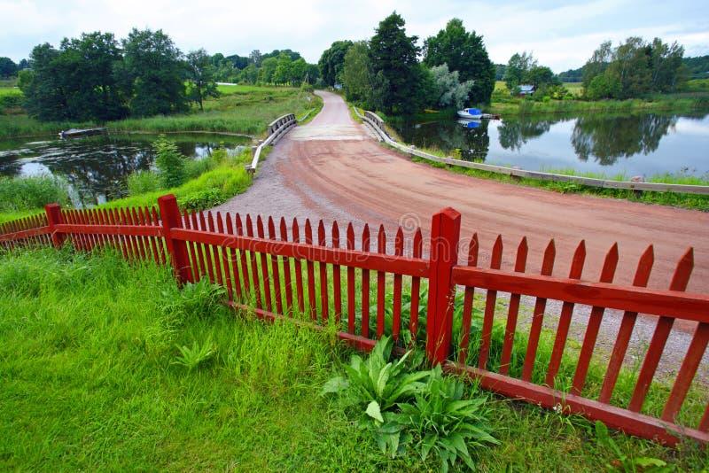 Landelijk landschap in Aland royalty-vrije stock fotografie