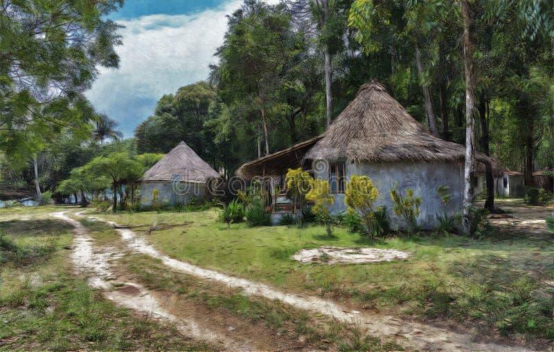 Landelijk landschap in Azië royalty-vrije stock afbeelding