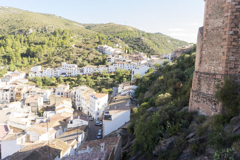 Landelijk landschap, de landelijke villa van Villafamés in Castellon, Valencia stock fotografie