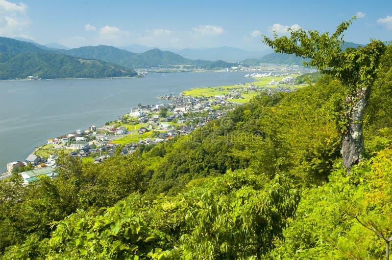 Landelijk landschap dichtbij Amanohashidate royalty-vrije stock foto's