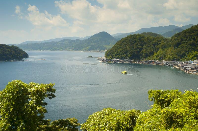 Landelijk landschap dichtbij Amanohashidate royalty-vrije stock afbeelding