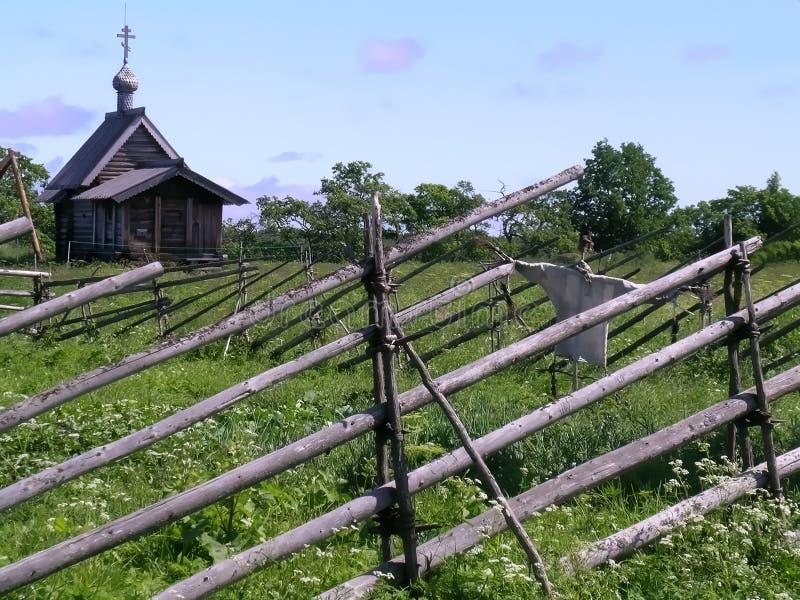 Landelijk landschap, Kizhi royalty-vrije stock foto's