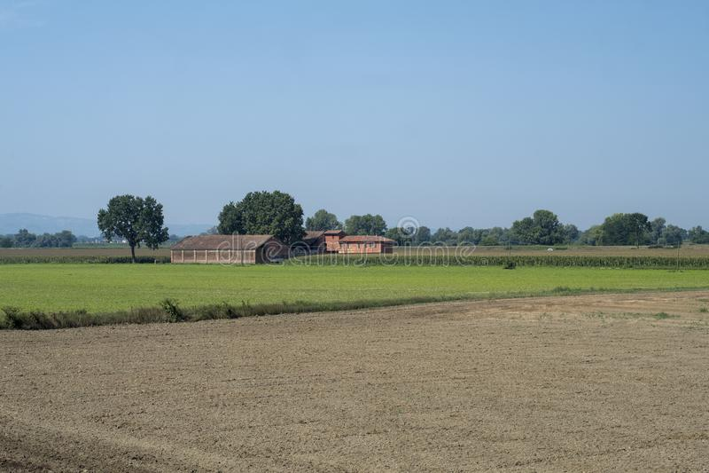 Download Landelijk Landschap Langs Het Po Fietspad Stock Foto - Afbeelding bestaande uit italië, installatie: 114225062