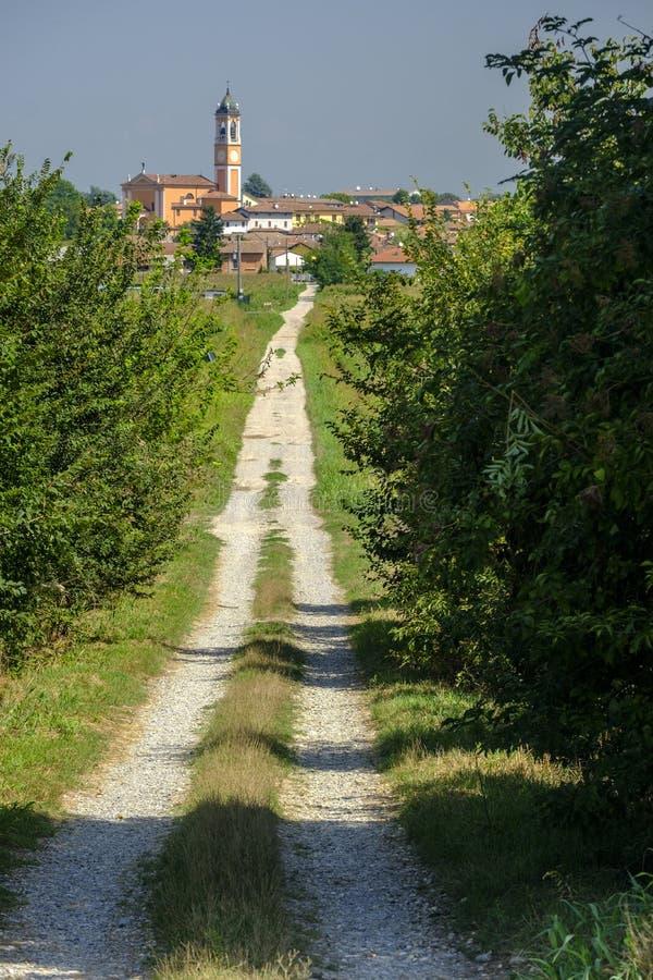 Download Landelijk Landschap Langs Het Po Fietspad Stock Afbeelding - Afbeelding bestaande uit steeg, lombardije: 114225071
