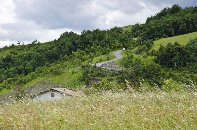 Landelijk landschap in Noordelijk Italië royalty-vrije stock fotografie