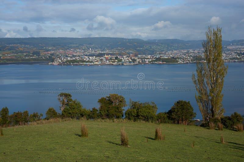 Landelijk Landschap van Chiloe royalty-vrije stock foto