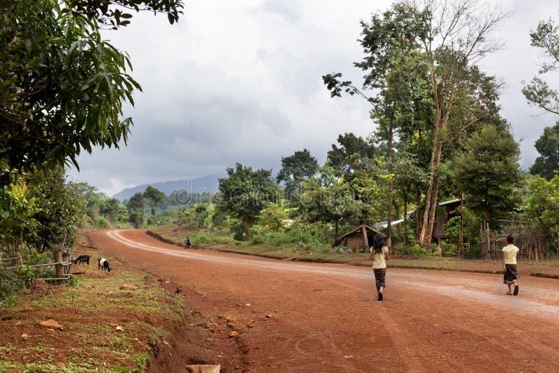 Landelijk Laos royalty-vrije stock afbeelding