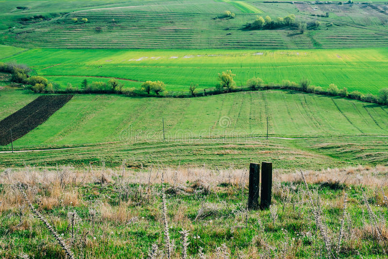 Landelijk platteland royalty-vrije stock foto's