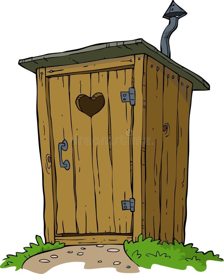 Landelijk toilet stock illustratie