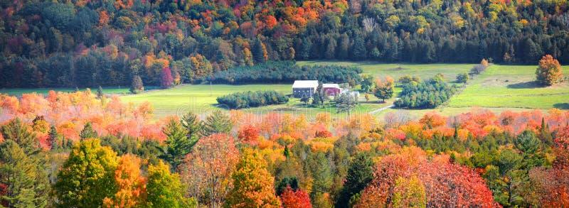 Landelijk Vermont in de herfsttijd royalty-vrije stock foto