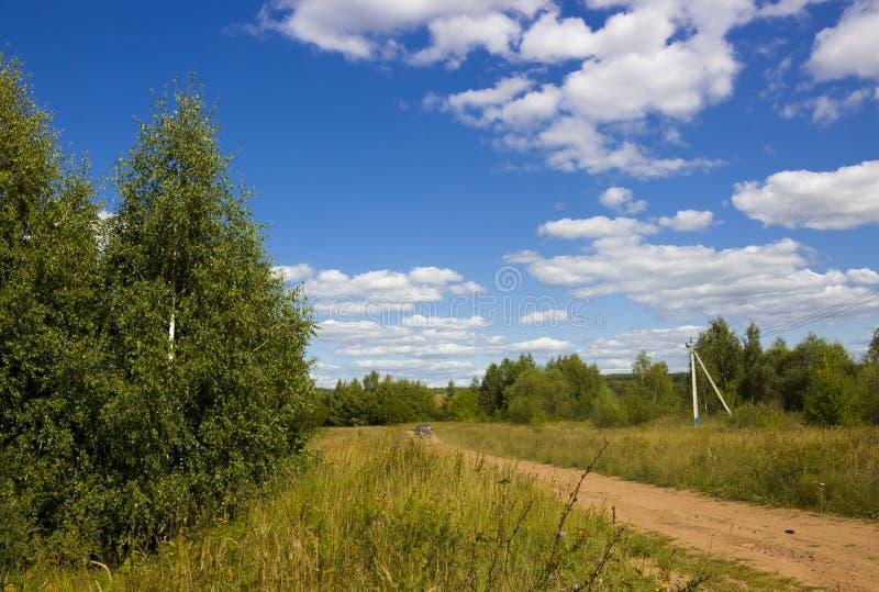 Landelijke de zomerweg stock fotografie