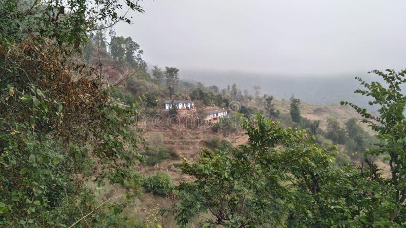 Landelijke dorpsfoto van India stock afbeeldingen