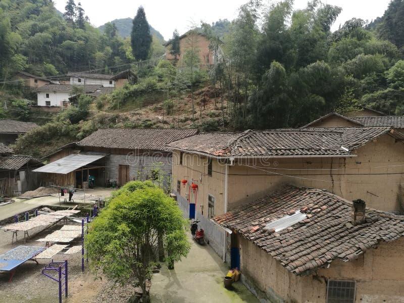 Landelijke huisvesting op berggebied van China royalty-vrije stock foto's