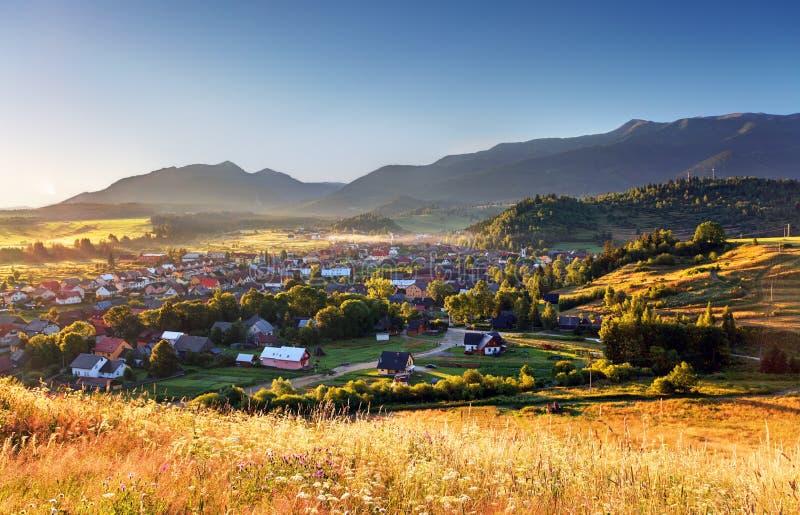 Landelijke scène in Slowakije Tatras royalty-vrije stock afbeelding