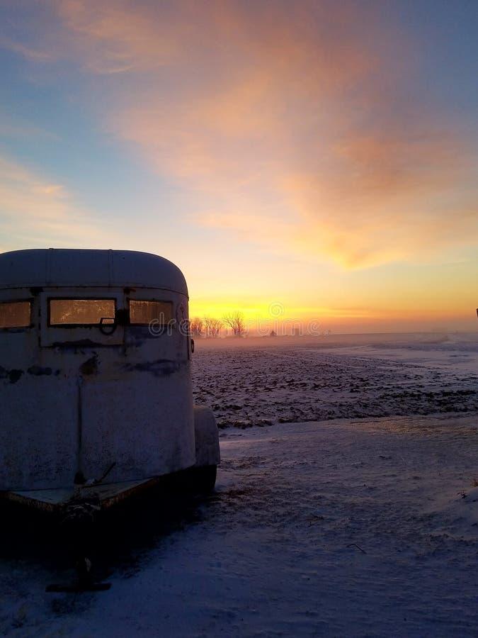 Landelijke zonsopgang royalty-vrije stock foto's