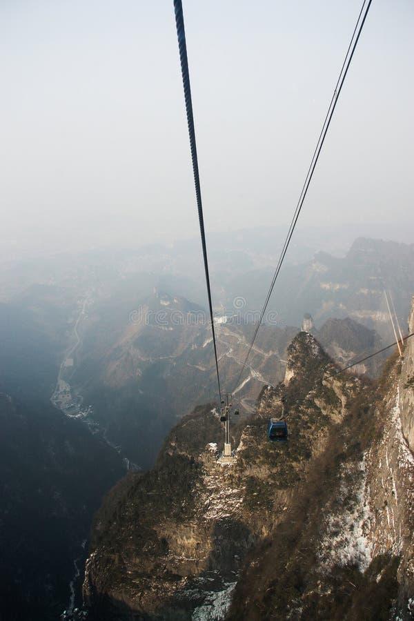 Landen Sie scape Ansicht von Tien mansan in Zhangjiajie lizenzfreies stockfoto