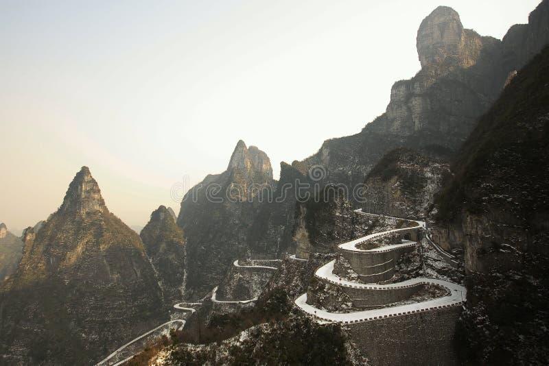 Landen Sie scape Ansicht von Tien mansan in Zhangjiajie stockfoto