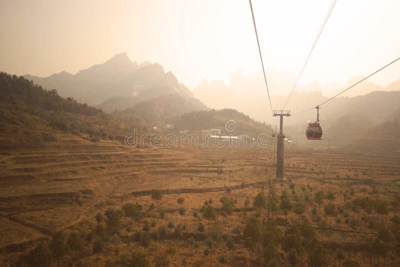 Landen Sie scape Ansicht von Tien mansan in Zhangjiajie stockbild